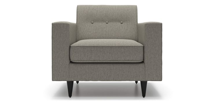Riva Armchair in Grey Goose Fabric by Kavuus.com (Made in Canada)