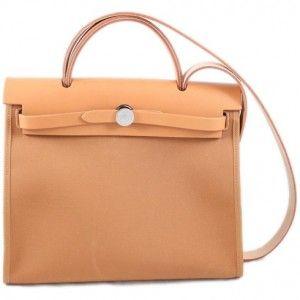 Hermes Beige Herbag Zip 31 Bag as seen on Kim Kardashian