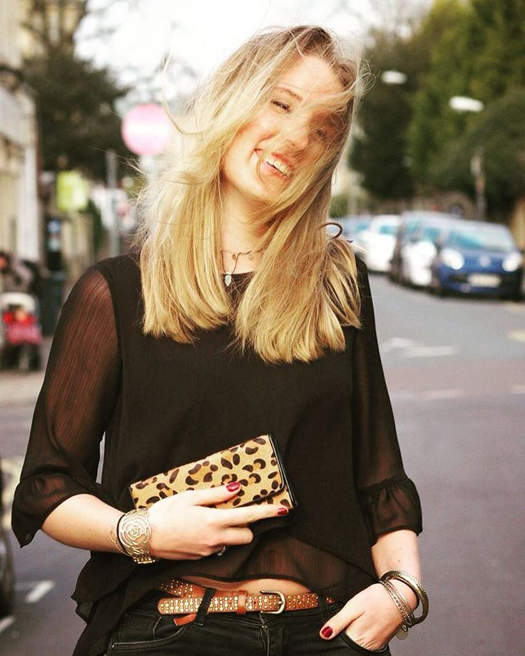 let leopard print pop from an all black outfit - all from Oxfam Bristol