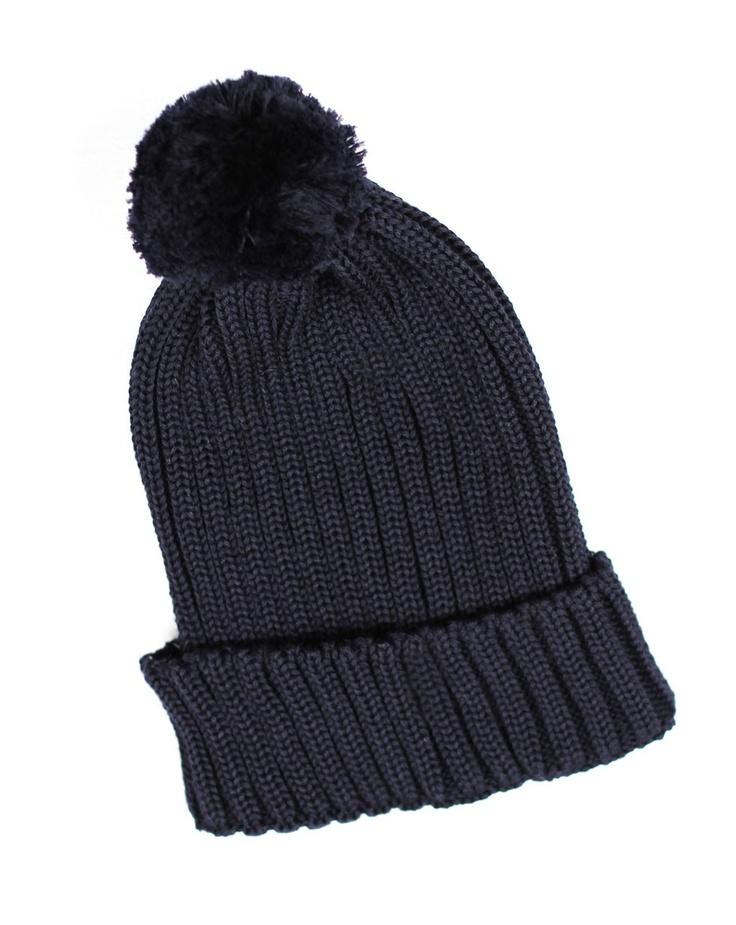 PomPom Beanie in Navy by Twenty-Seven Names - Jewellery, Scarves and Hats - Accessories