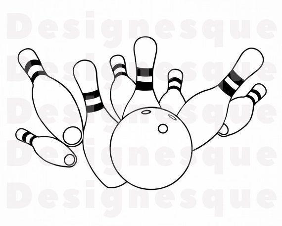 Bowling Logo Outline 2 Svg Bowling Svg Bowling Clipart Etsy In 2021 Logo Outline Outline Bowling