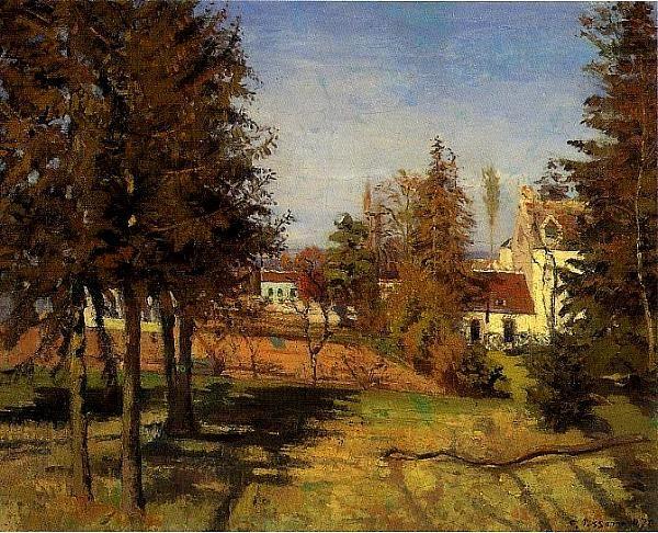 Les Pins de Louveciennes Camille Pissarro