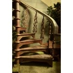 Antique cast iron spiral staircase for sale