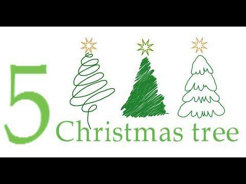 Різдвяна ялинка, як намалювати ялинку, як намалювати ялинку олівцем, #dr...