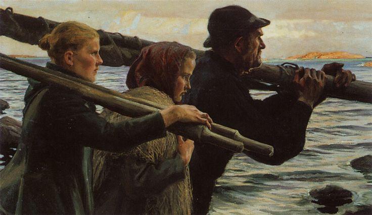 Albert Edelfelt: I yttersta skären . Ulkosaaristossa (1898)