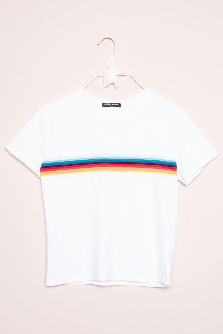 Brandy ♥ Melville |  Jamie Rainbow Top - Clothing