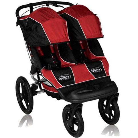 Baby Jogger Summit XC Double Stroller/Jogger Hybrid Red/Black