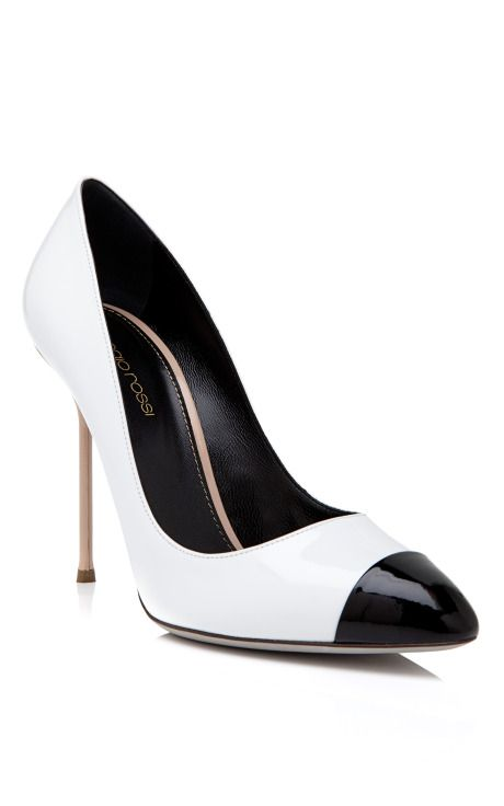 BY SERGIO ROSSI  SEE DETAILS HERE: Black Toe Pump