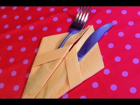Красиво сложить бумажные салфетки 2. How to fold napkins. - YouTube