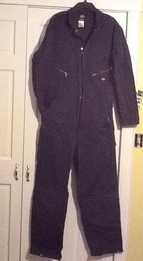 Dickies Long Sleeve Carpenter Work Coveralls Jumpsuit Suit Mens M Regular Navy    eBay
