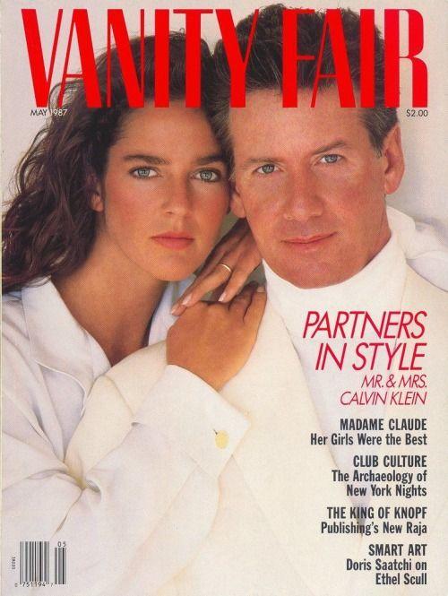 calvin klein amp second wife kelly rector vanity fair 1987