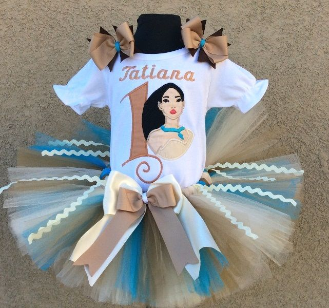 Pocahontas Disney Princess Girls Birthday Tutu Outfit