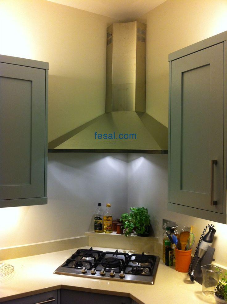 Fesal Com Falmec Design Elios Wall Corner Kitchen Hood