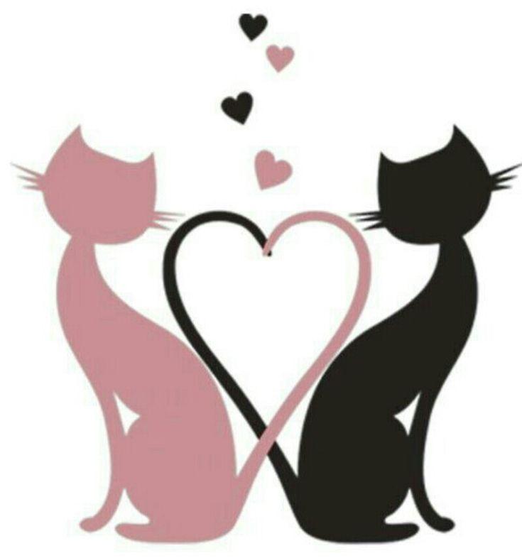 Влюбленные коты картинки клипарт