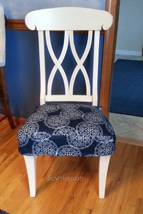 sewamazin chair seat covers part great tutorial that i plan to use for the dining room chairs