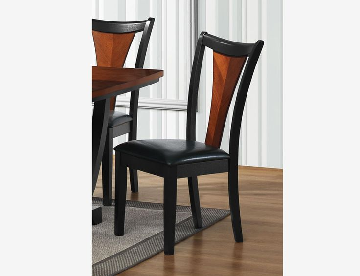 wood and leather dining chair