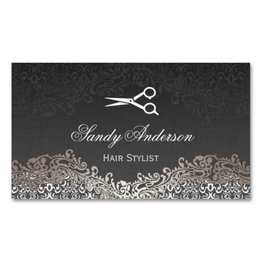Vintage Elegant Silver Damask - Indie Hair Stylist Business Card Template. This great business card design is available for customization. All text style, colors, sizes can be modified to fit your needs. Just click the image to learn more!