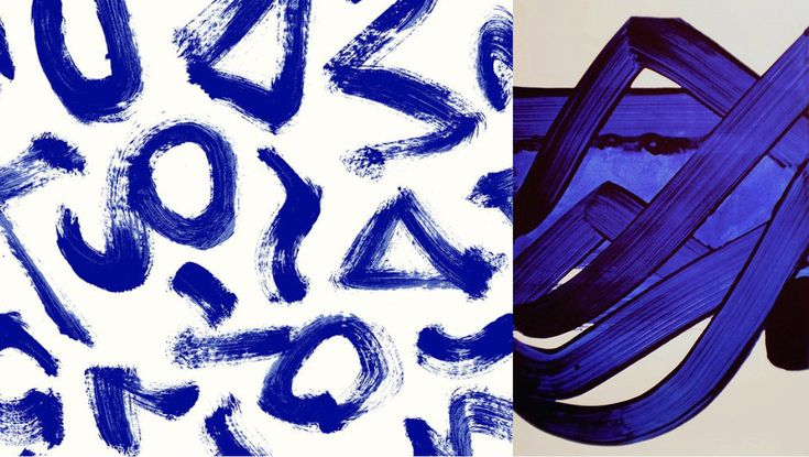 Left photo : pattern by Minakani / Righ photo : Pierre Soulages © via Goodmoods