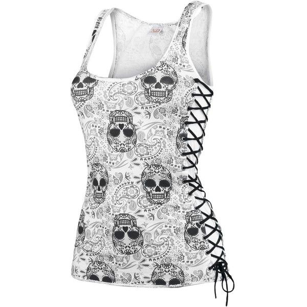 Alive Tanktop (£28) ❤ liked on Polyvore