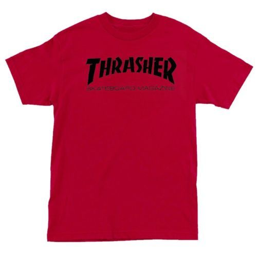 Thrasher SKATE MAG Logo Skateboard Shirt RED