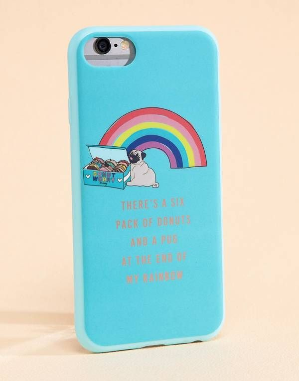 check out f7c5f 6637c Typo Rainbow Pug iPhone 6/6S/7 Case | shira | Iphone 6, Iphone ...
