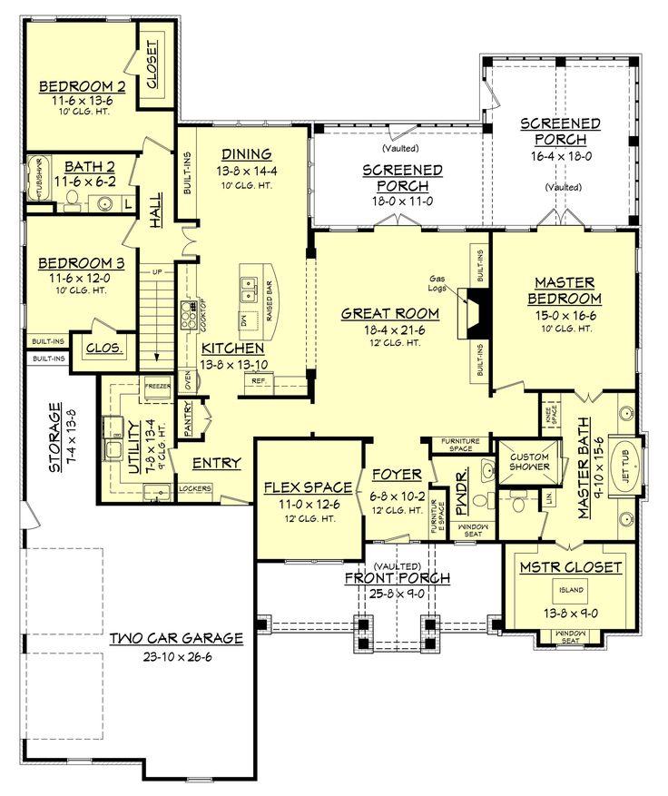 142-1168: Floor Plan Main Level