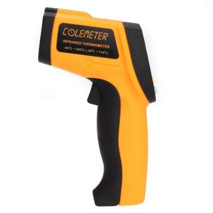 Colemeter GM320 - Termómetro Medidor Infrarrojo Láser IR Digital Temperatura LCD