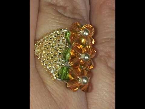 Bisuteria y joyeria 2017 y 2018 COMO HACER anillos de cristal Swarovski Rondeles rocalla - YouTube