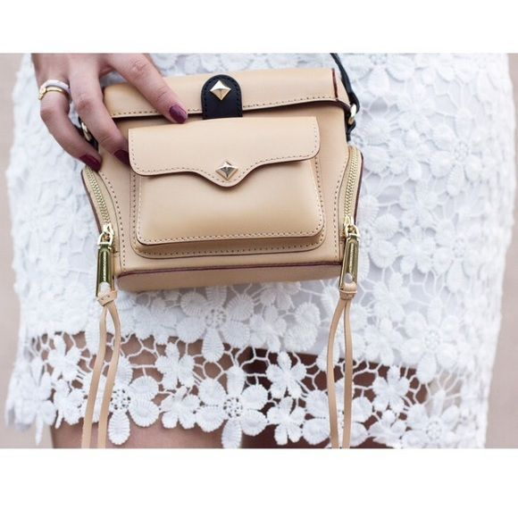 Rebecca Minkoff Nude Camera Bag Super cute and perfect for traveling! Brand new with the tags! No trades!! 1211549nro Rebecca Minkoff Bags Mini Bags