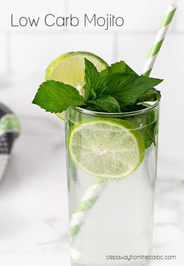 Keto And Low Carb Mojito Step Away From The Carbs Low Carb Summer Recipes Low Carb Cocktails Best Low Carb Recipes
