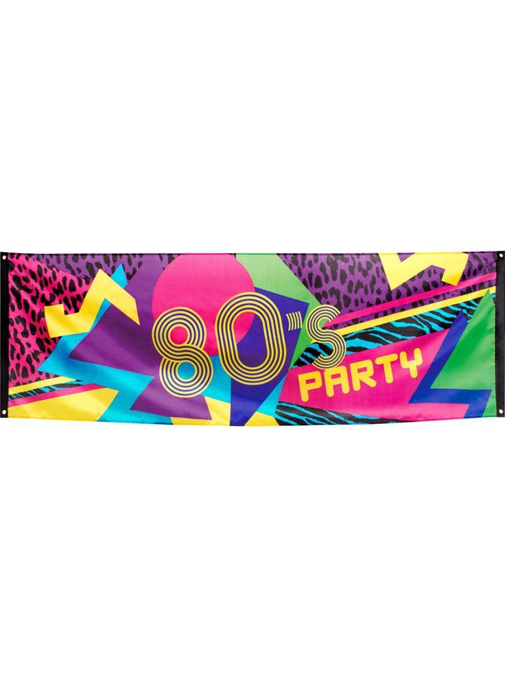 Striscione in tessuto 80's Party 74 x 220 cm su VegaooParty, negozio di articoli per feste. Scopri il maggior catalogo di addobbi e decorazioni per feste del web, sempre al miglior prezzo!