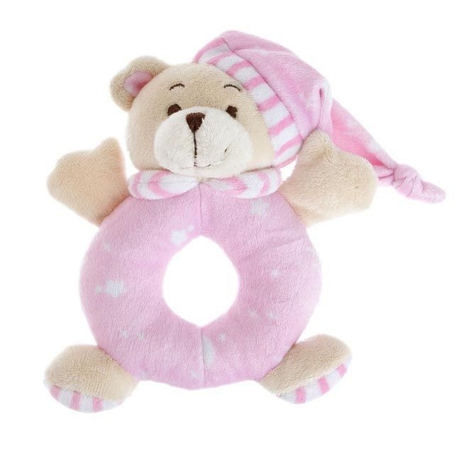 igiftFRUITHAMPERS.com.au - Sleepytime Teddy Bear Rattle Pink - It's a girl gift, $6.45 (http://www.igiftfruithampers.com.au/sleepytime-teddy-bear-rattle-pink-its-a-girl-gift/)