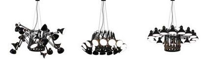 Detail: Dear Ingo anglepoise chandelier Shapes