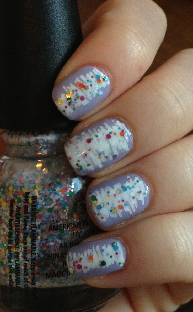 202 best nail art 2 images on pinterest nails beautiful and lavender possibly essie st lucia lilac or china glaze light as air sally hansen nail art pen in white china glaze its a trapeze prinsesfo Images