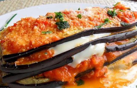 Parmigiana di melanzane light #parmigiana #peperoni #melanzane