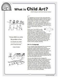 What is art? Art is language. Nice to print out and give to parents