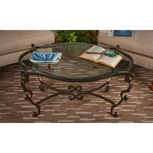 Dessau Home Bronze Acanthus Leaf Iron Coffee Table With