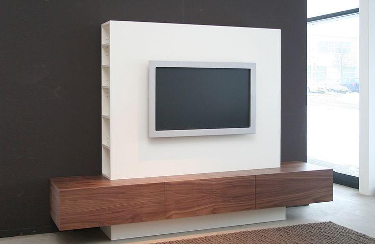 Kino TV kast 10% korting Amerikaans noten fineer / lak wit - Designsales.nl