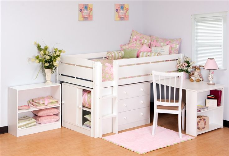 Betty has a very small room.  I'm already wondering what to do with it when she outgrows her toddler bed.  This is perfect!