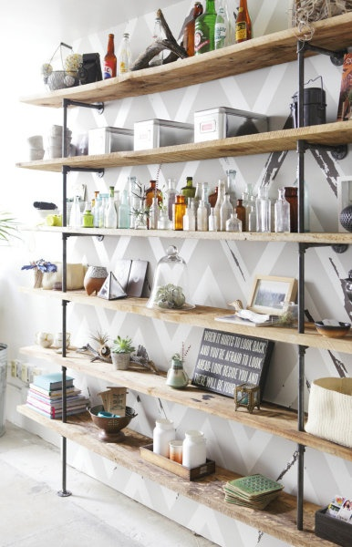 inexpensive shelving system