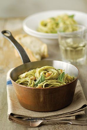Pasta with Macadamia Basil and Parmesan Sauce Want to win the macadamia oil used in this recipe? Check out https://www.facebook.com/sallyjoseph.nutritionandwellbeing/app_522008621164365