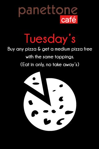 Panettone Cafe Tuesday special JHB