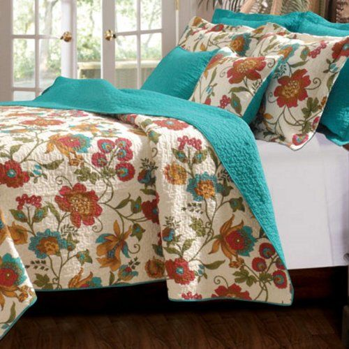 Floral Scroll Girls Bedding Twin Full Queen King Quilt Set