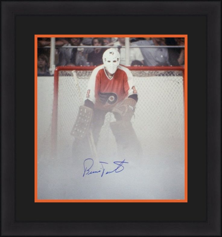 """Philadelphia Flyers Bernie Parent Fog Game Autographed NHL Hockey 16"""" x 20"""" Framed and Matted Photo"""