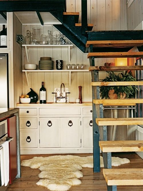 Open stair in a tight space