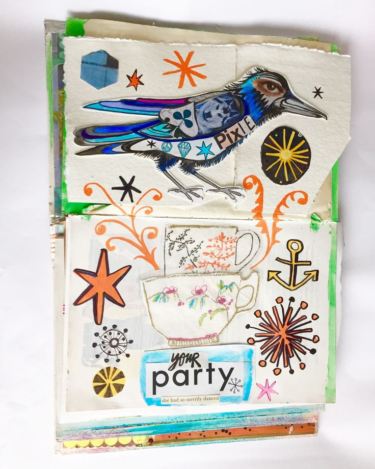 Art journal page 6 by Lizzie Reakes
