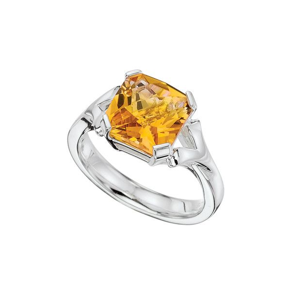 Fine Jewelry Personally Stackable Two-Tone Citrine Ring hld4t