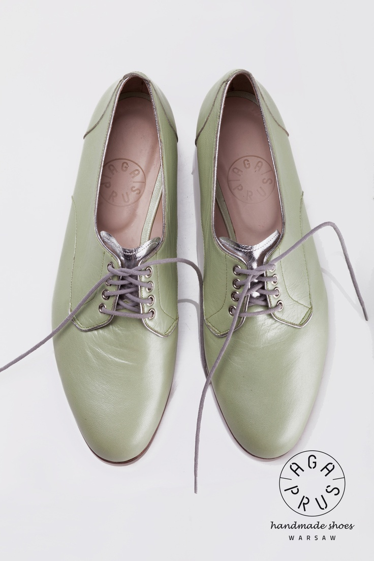 pearl mint Derby Shoes