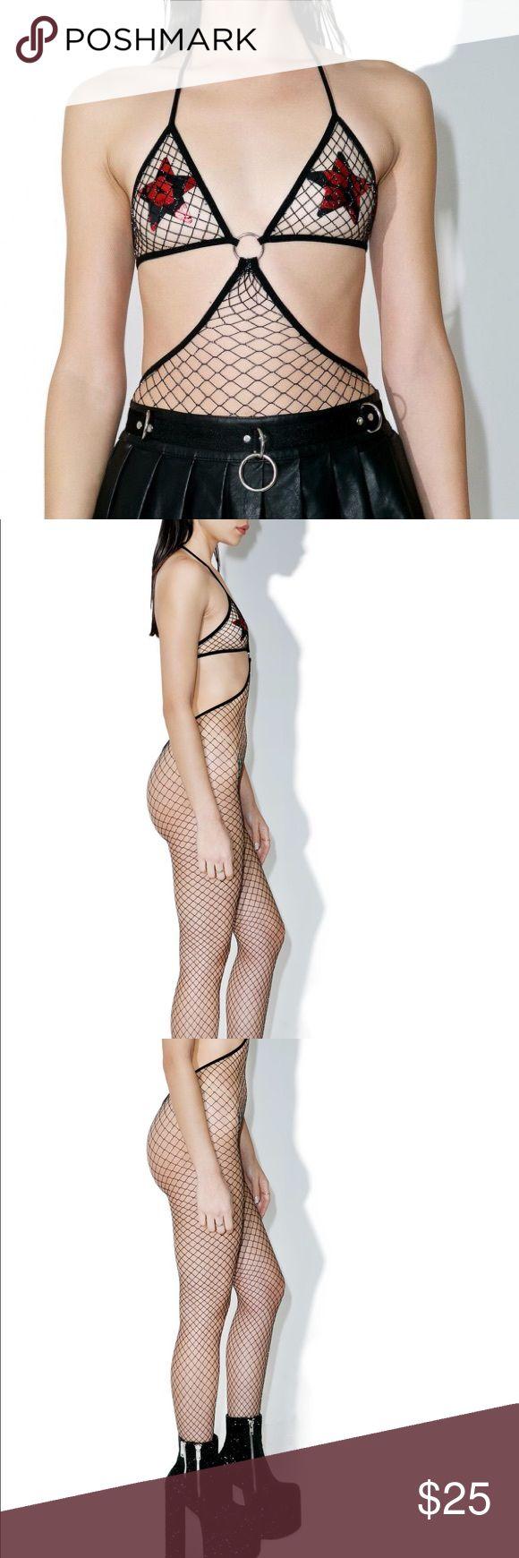 Fishnet bodysuit Brand new!! Fishnet bodysuit from dolls kill dolls kill Other