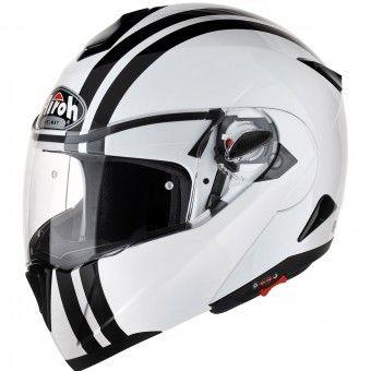 Casque Modulable Airoh C100 Flash Blanc Noir http://www.icasque.com/Casque-moto/Modulable/C100-Flash-Blanc-Noir/